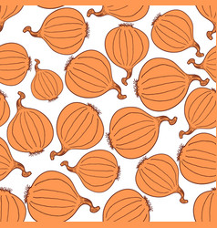 hand drawn onion seamless pattern vector image