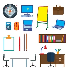 Office items Objects office interior vector image