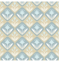 Vintage decorative seamless pattern with floral vector image vector image