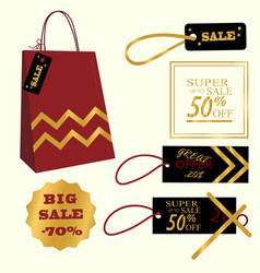 collection of sale discount vector image vector image