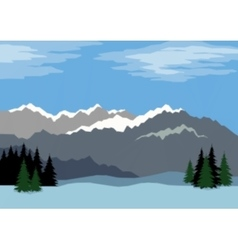 Landscape Mountains Low Poly vector image vector image