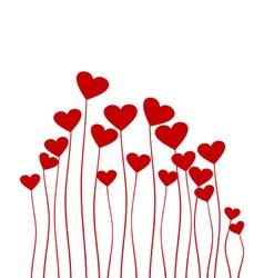 Red heart flower vector