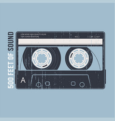 retro design with a cassette tape t-shirt and vector image