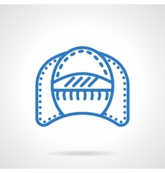 Seat patio simple blue line icon vector image vector image