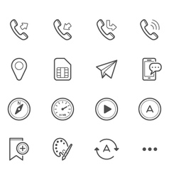 Simple Icons for Mobile Phone and Application vector image vector image
