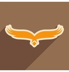 stylish silhouette eagle logo vector image