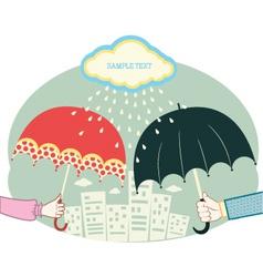 umbrella city vector image vector image