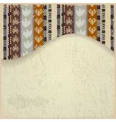 Abstract background with African Tribal elements vector image vector image