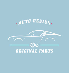classic label car vector image vector image