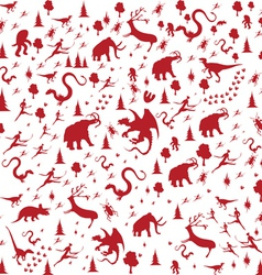 seamless prehistoric vector image