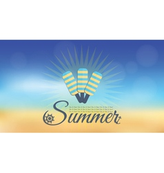 Summer blur hipster background vector