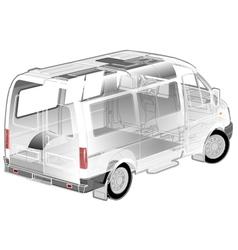 Van ifographics cutaway vector image