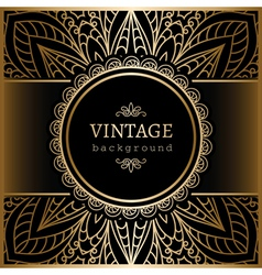 Vintage gold lacy background vector image vector image