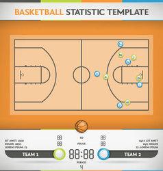 Basketball Statistic vector image vector image