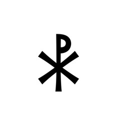 christian monogram of jesus christ - christogram vector image vector image