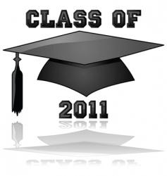 class of 2011 graduation vector image vector image