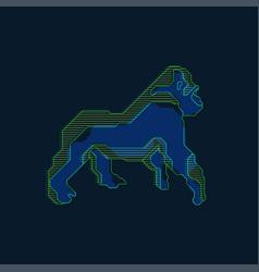 digital gorilla vector image vector image