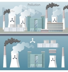Energy Industry Air Pollution Cityscape vector image