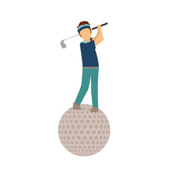 golf game sport vector image vector image