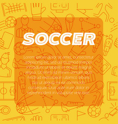 modern design background soccer sign icon vector image