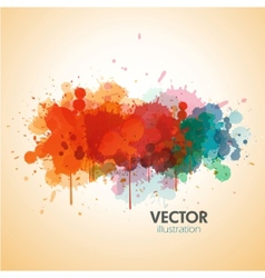 paint splat background vector image vector image
