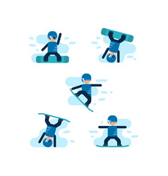 winter games snowboarding vector image