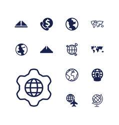 13 america icons vector