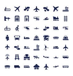 49 passenger icons vector