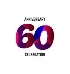 60 year anniversary celebration logo template vector