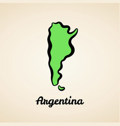Argentina - outline map vector