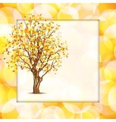 Beautiful autumn frame vector image