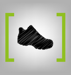 boot sign black scribble icon in citron vector image