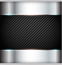 carbon background with steel frame vector image