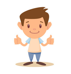 child thumbs up vector image