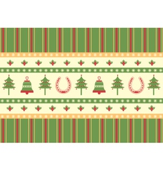 Christmas decoration background green red card vector