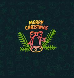 christmas greeting logo vector image