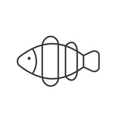 clownfish icon set ocean life line design vector image