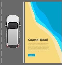 Coastal road conceptual flat web banner vector