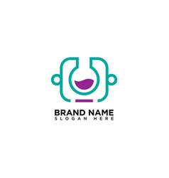Code lab logo design template vector