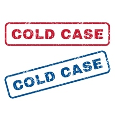 Cold Case Rubber Stamps vector