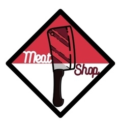 Color vintage meat store emblem vector image