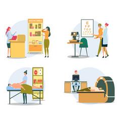 customer buying pill in drugstore mri diagnostic vector image