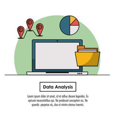 data analysis infographic vector image