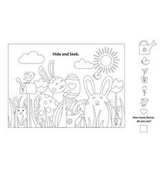 easter coloring pages printable and worksheet vector image