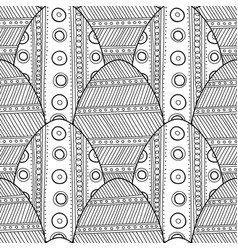 Easter eggs black and white seamless pattern for vector