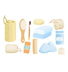eco bath accessories set vector image