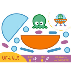 education paper game for children ufo vector image