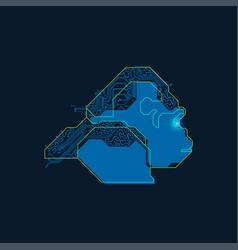 electronic gorilla vector image