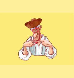 Emoji sticker seaman captain confused vector