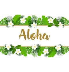 exotic aloha banner vector image
